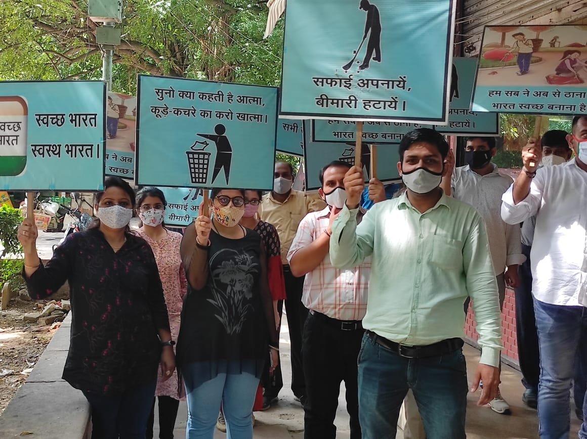Swacchta Rally by NWDA Offices at New Delhi on 04-10-2021